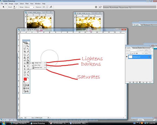 Photoshop находятся инструменты «Осветлитель»/«Затемнитель»/«Губка» (Dodge/Burn/Sponge)