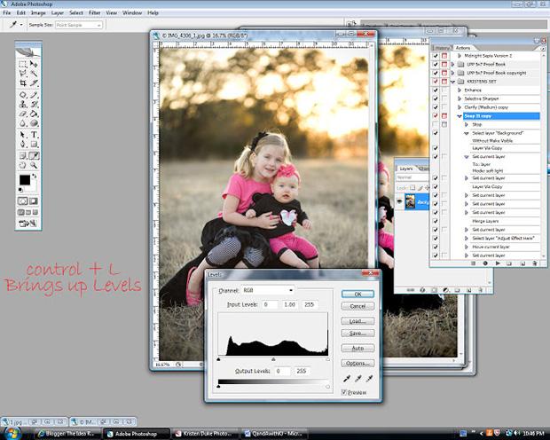 Чтобы осветлить снимок в Photoshop, откройте окошко с «Уровнями», нажав CTRL+L