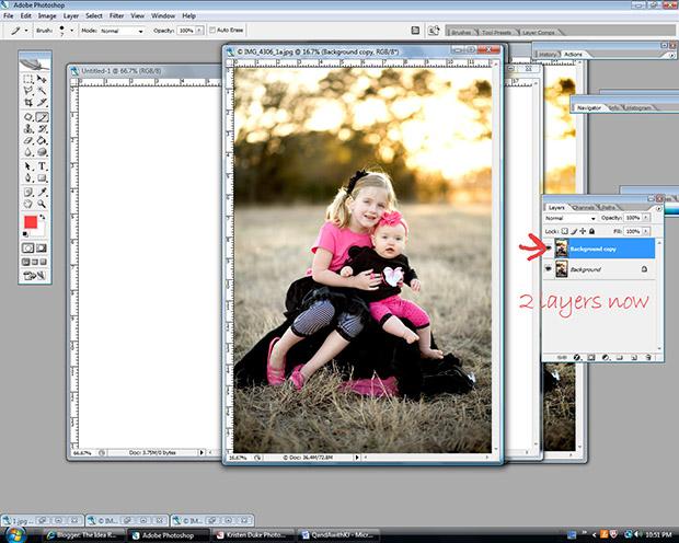 уроки Photoshop: вы увидите выделенную надпись «Background copy» или «Задний слой копировать»