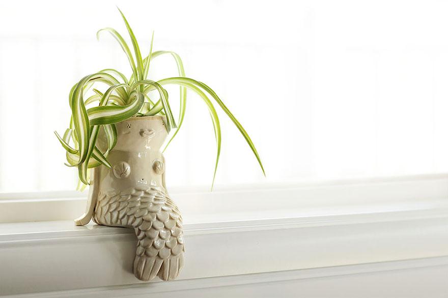 Русалка-цветочный горшок от Pipio