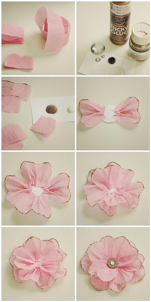 цветы (для подарочной упаковки или картин) из бумаги: анемона, пошаговая инструкция в картинках