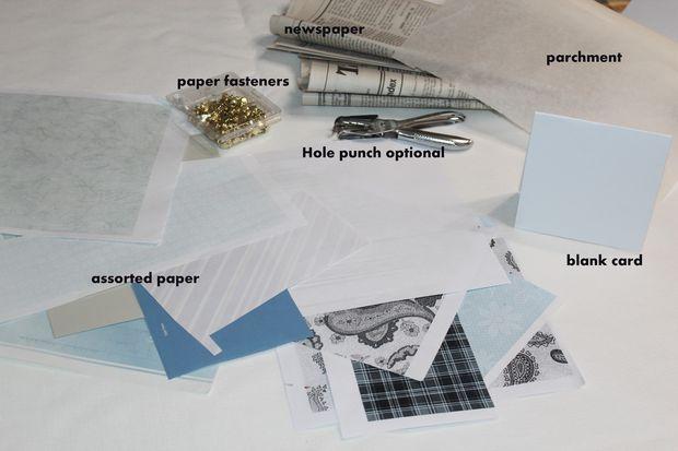 Как делать цветочные открытки в стиле шебби-шик - исходные материалы