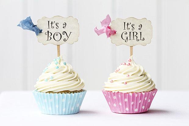 голубой для мальчиков, розовый для девочек