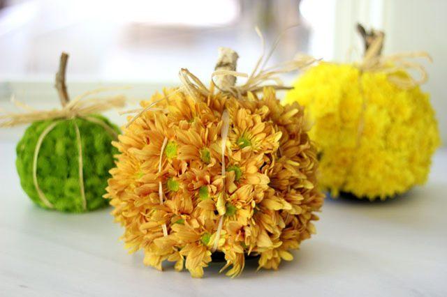 Как создать осеннее настроение в интерьере: цветочные «тыквы»