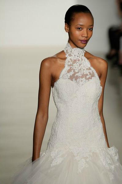 свадебная мода 2014: более скромное декольте, вырезы, бретели