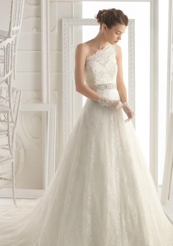 свадебная мода 2014: бретель на одно плечо