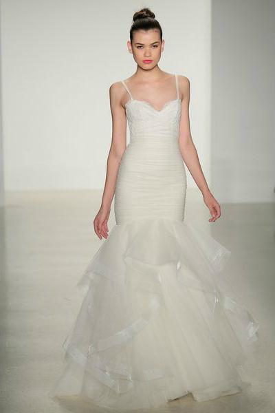 свадебная мода 2014: заниженная талия