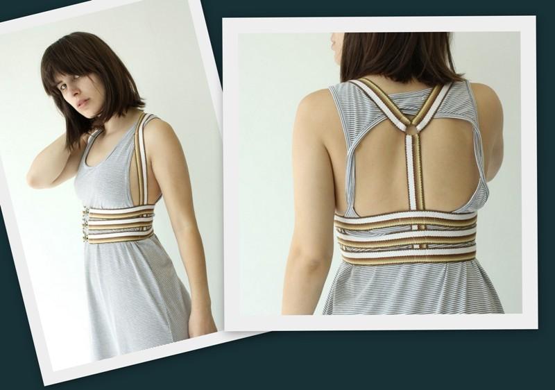 самодельное модное платье