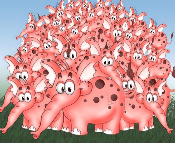 Попробуйте не думать о розовом слоне