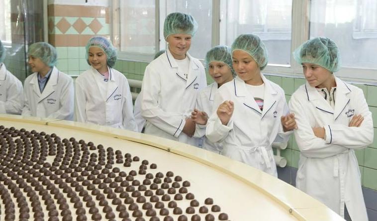 шоколадная фабрика, экскурсия