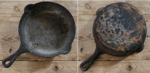 Как гарантированно отчистить ржавую чугунную сковороду с застаревшим нагаром