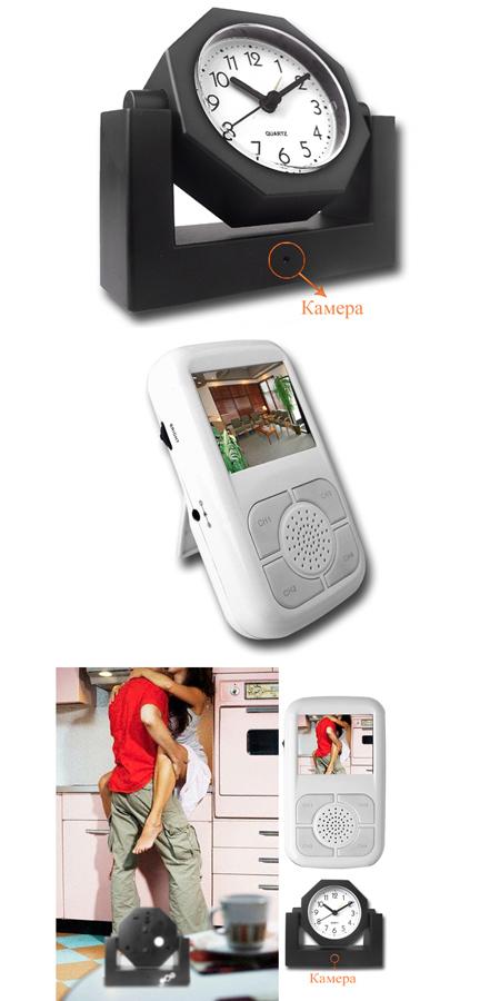 Часы, передающие видеосигнал на принимающее устройство