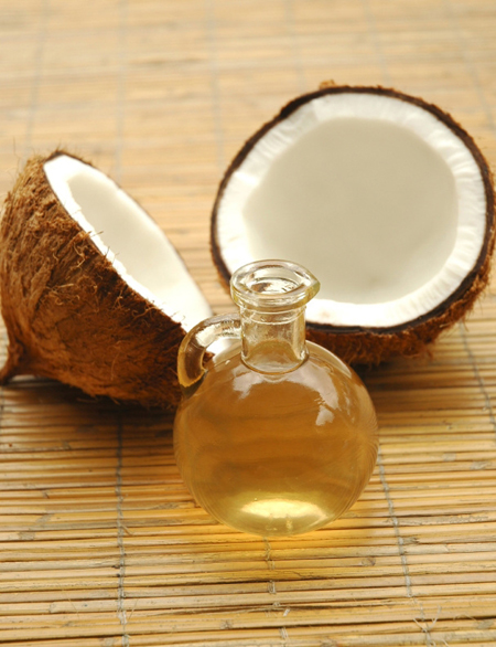 Здесь вам понадобятся масло кокоса ...