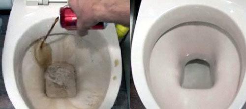 моем туалет при помощи Кока-Колы