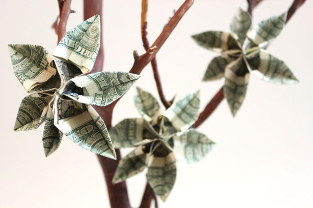 готовое денежное дерево своими руками: дарим деньги красиво
