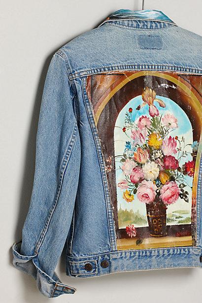 Картины нашиваются целиком на спину джинсовой куртки или жилета
