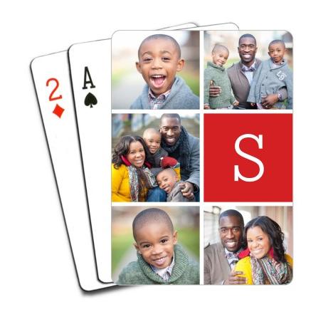 Игральные карты с семейными фотографиями