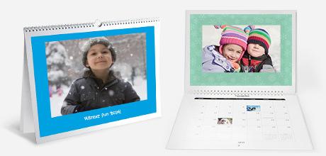 Перекидной календарь из семейных снимков