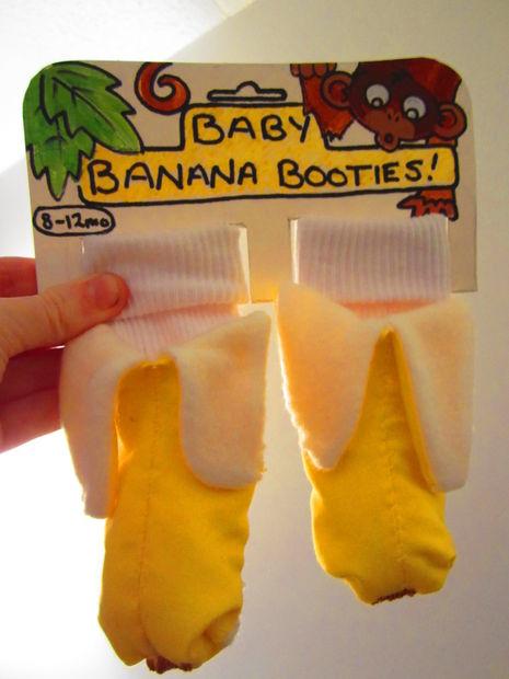 Как сшить подарочные носочки/пинетки/башмачки-бананы для малыша