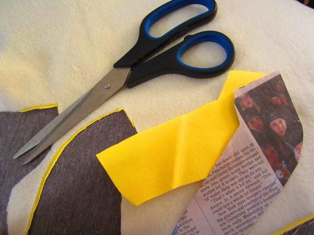 вырезаем выкройки под кожуру банана