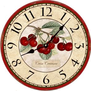 настенные часы во французском или немецком сельском стиле