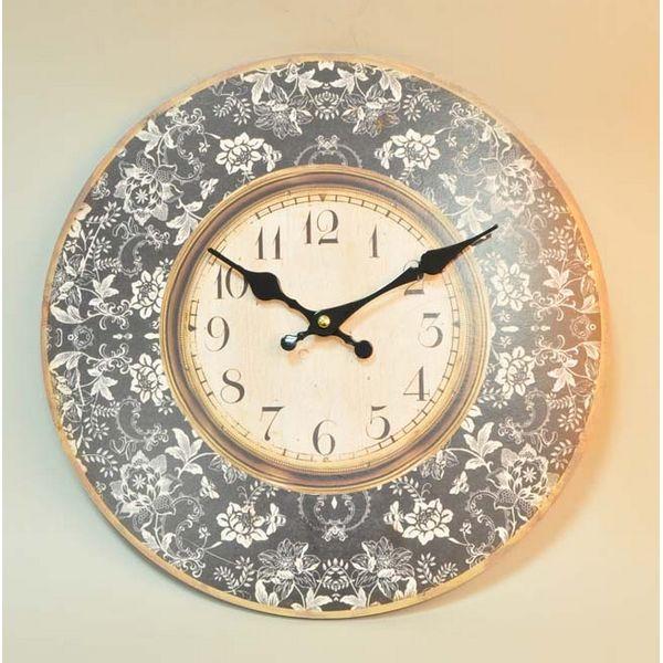 выбрать часы с очень широким ободком, внутри которого находится циферблат, и клеить изображение как раз на ободок