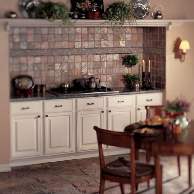 Как выбрать современный дизайн рабочей стенки/фартука для кухни - медный сланец