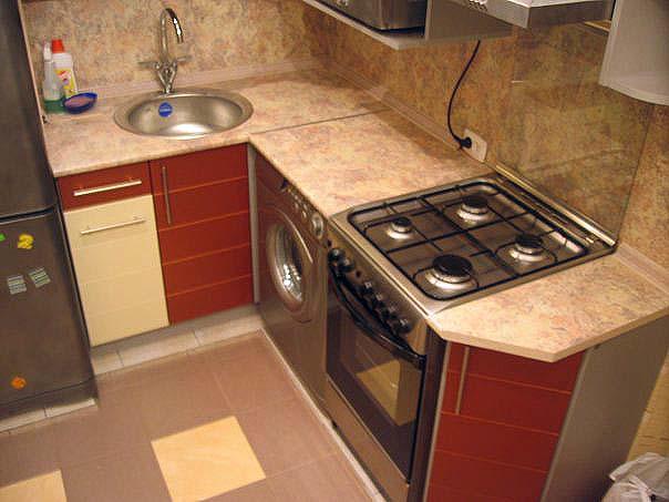 ремонт кухни в хрущевке фото с газовой.