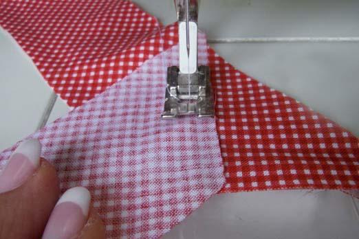 Сшейте ленты вместе, чтобы получить одну длинную ленту
