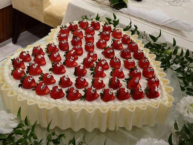Пирог в виде сердца на День святого Валентина