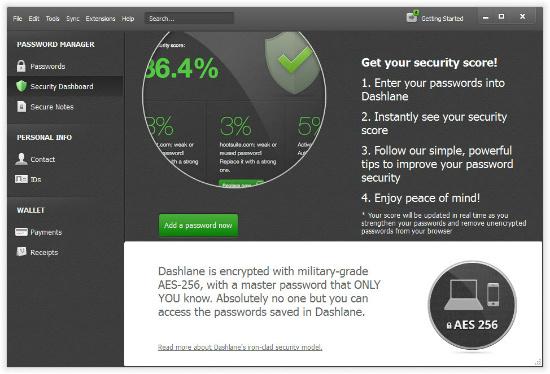 программа для генерирования и хранения паролей: скрин