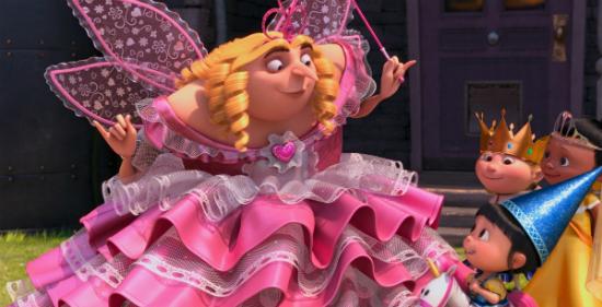 Гадкий я 2 (Despicable Me 2): кадры из мультфильма - Грю зубная фея костюм и девочки на Хелоуине
