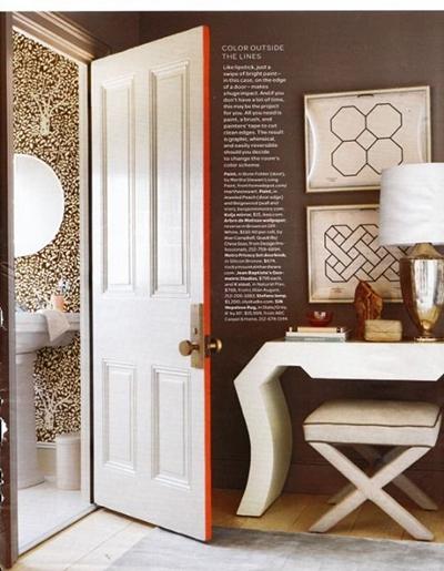 Окрасьте только боковину – край двери по всему периметру