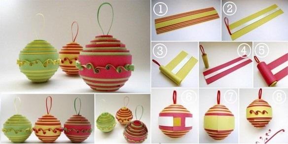 Как делать елочные игрушки своими руками: шары - пошаговая инструкция в картинках