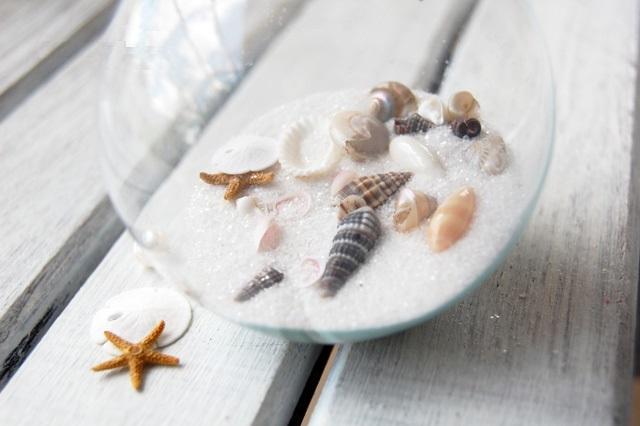 Как делать елочные игрушки своими руками: сценки и отдельные элементы в прозрачных пластиковых шарах,  сракушками и песком
