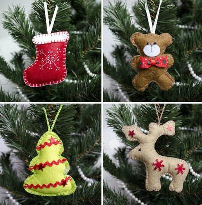 Как делать елочные игрушки своими руками: фетр, носок, медведь, олень, елка
