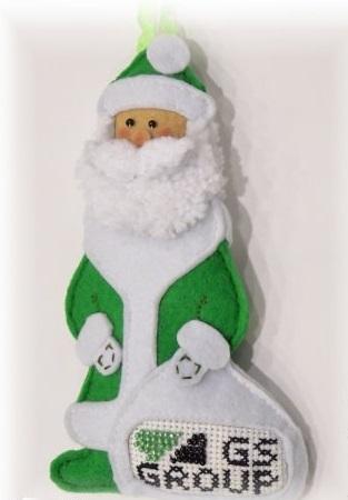 Как делать елочные игрушки своими руками: фетр, набивной Дед Мороз