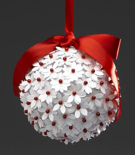 Бумажные шары на новый год