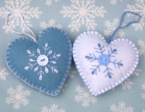 Как делать елочные игрушки своими руками: фетр, сердечки с вышивкой