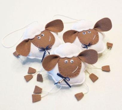 Как делать елочные игрушки своими руками: фетр, овечки