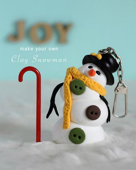 Как делать елочные игрушки своими руками: снеговик из легкой глины
