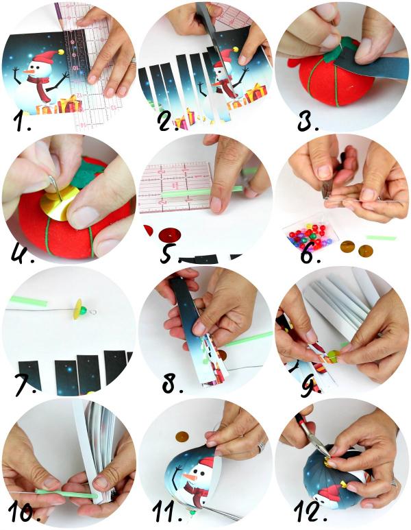 Нарезаем открытку, бумагу для скрапбукинга, декоративную оберточную бумагу, наклеенную на тонкий картон, плотную пленку (и т. д.) на ровные полоски шириной около 1,5 см и одинаковой длины