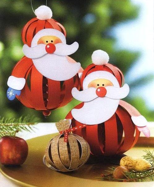 А на основе вышеприведенной техники получаются вот такие изумительные Санта Клаусы (или Деды морозы