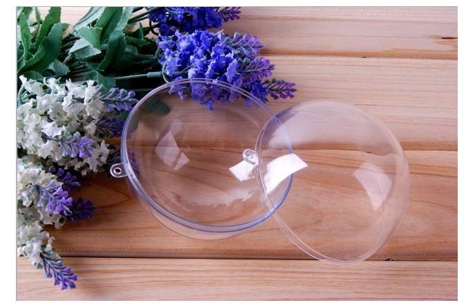 Раскрывающиеся прозрачные пластиковые формы – в т. ч. шары, яблоки, сердечки и прочая, и прочая – это обширнейший простор для фантазии и рукоделия на тему елочных игрушек
