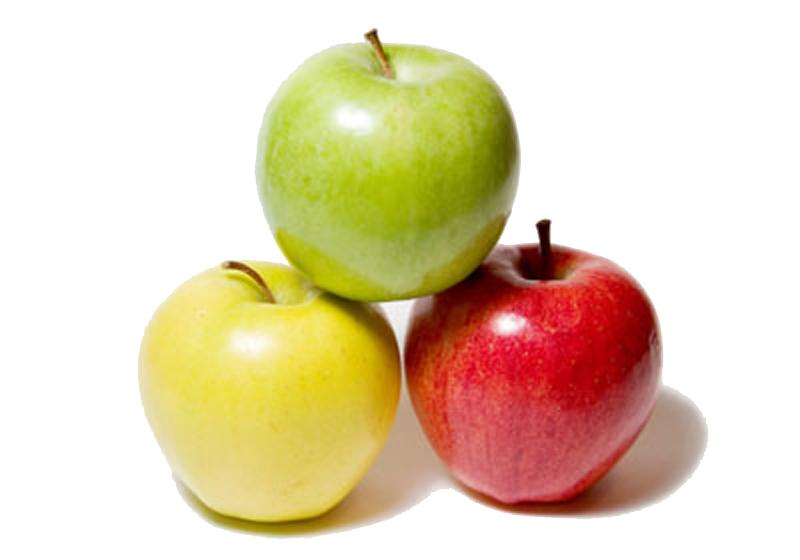 цвет яблока, т. е красный, желтый или зеленый