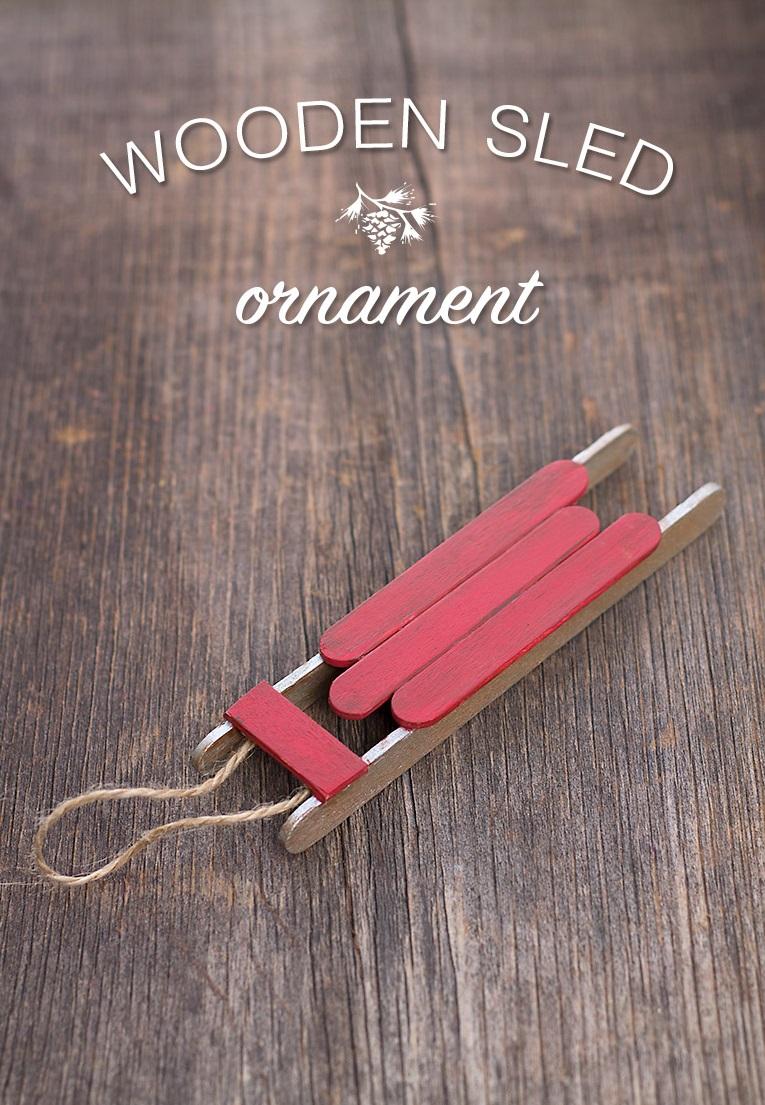 Как делать елочные игрушки своими руками: старинные санки