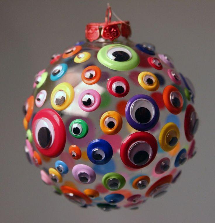 Как делать елочные игрушки своими руками: сценки и отдельные элементы в прозрачных пластиковых шарах, с глазами
