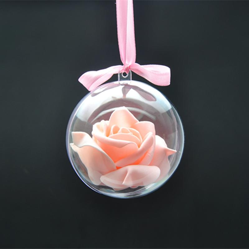 Как делать елочные игрушки своими руками: сценки и отдельные элементы в прозрачных пластиковых шарах, с розой