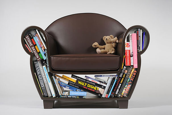 кресло-книжный шкаф