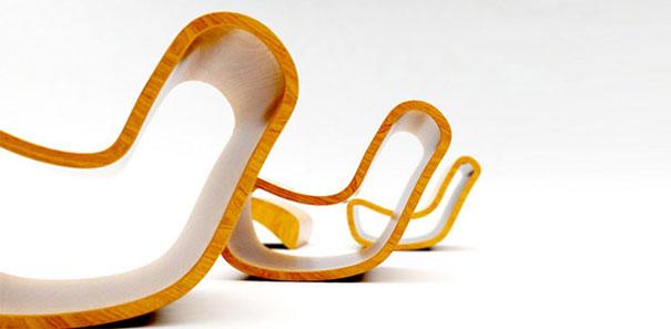 вкладываемые кресла-качалки в разобранном виде